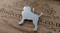 Affenpinscher dog pendant sterling silver handmade by saw piercing Caroline Howlett Design